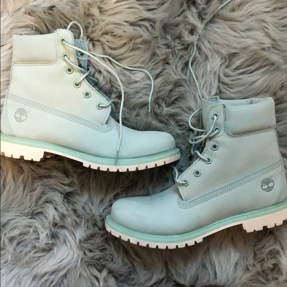 2018 Chaussures Bottines Femme Timberland Green Menthe 6In